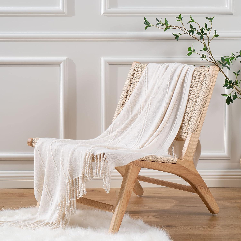 Battilo Home Knited Throw Beauty products Sale Blanket B Fall Farmhouse