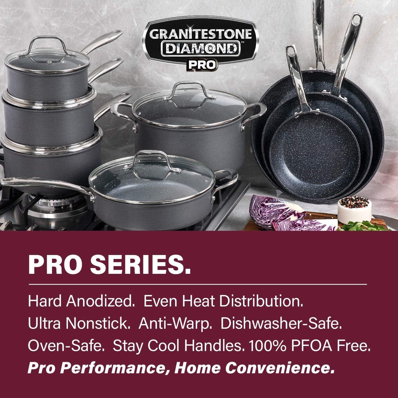 Granitestone Hard Anodized Pots and Pans 13 Piece Premium