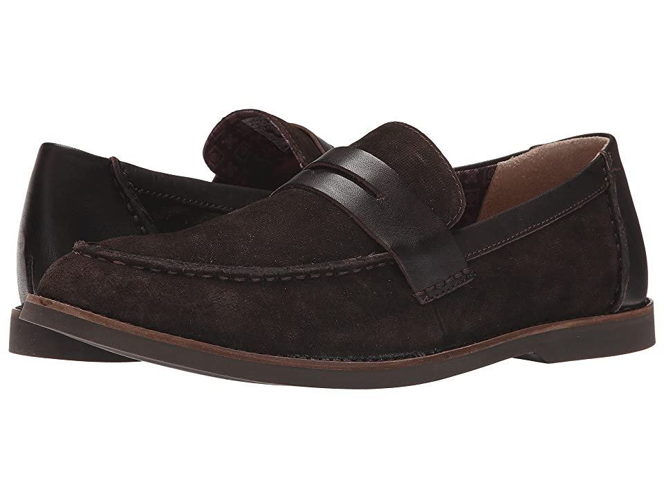 Sebago Norwich Penny (Dark Brown Embossed Suede) Men
