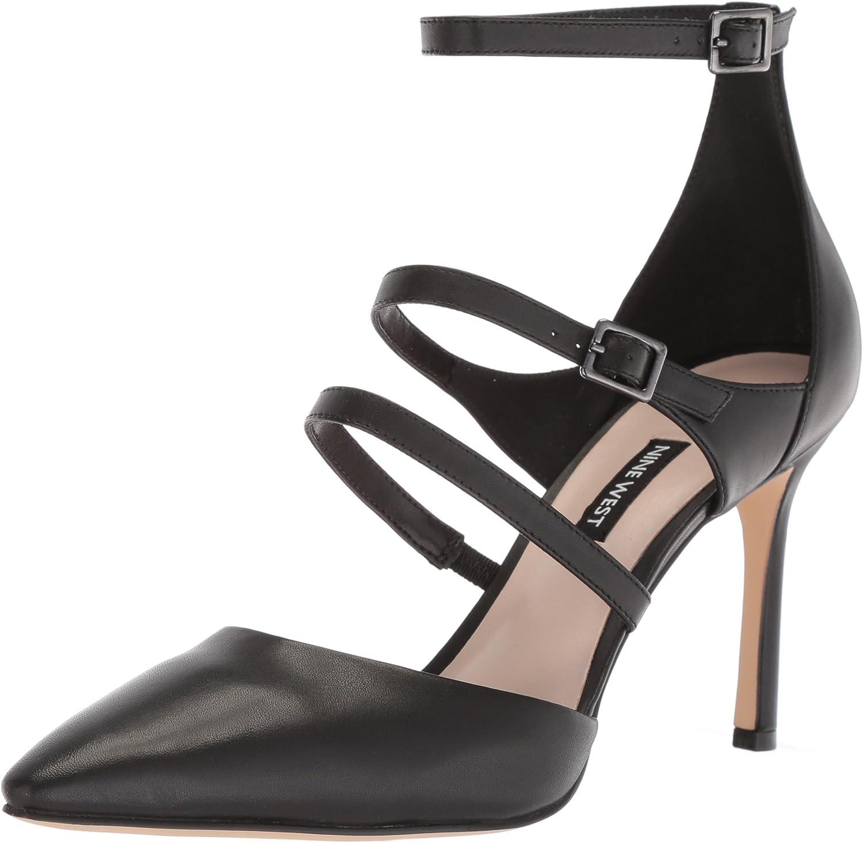 Nine West Womens Enchanting Leather Heeled Sandal