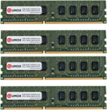 QUMOX 16GB (4x 4GB) DDR3 1600 PC3-12800 PC-12800 (240 PIN) XMP CL9 DIMM Memoria Desktop