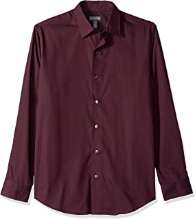 Van Heusen Men's Sateen Stripe Long Sleeve Button Down