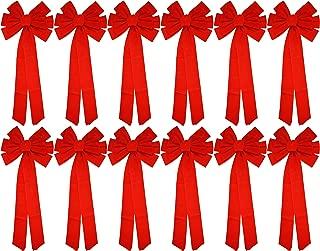 Red Velvet Bow (12 Pack) 26