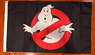GhostBusters 3`x5 Feet Black Flag Banner Decor Movie Ghost Busters