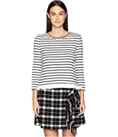 Kate Spade New York - Broome Street Stripe Fringe Knit Top