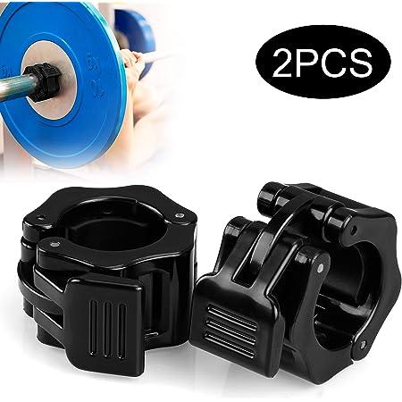 2pcs30mmQuick Release Barbell CollarsClampsWeight Plate LocksClips Heiß
