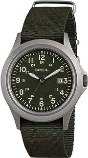 Reloj BREIL Hombre Army Esfera Verde e Correa in sintético Negro, Movimiento Solo Tiempo - 3H Cuarzo
