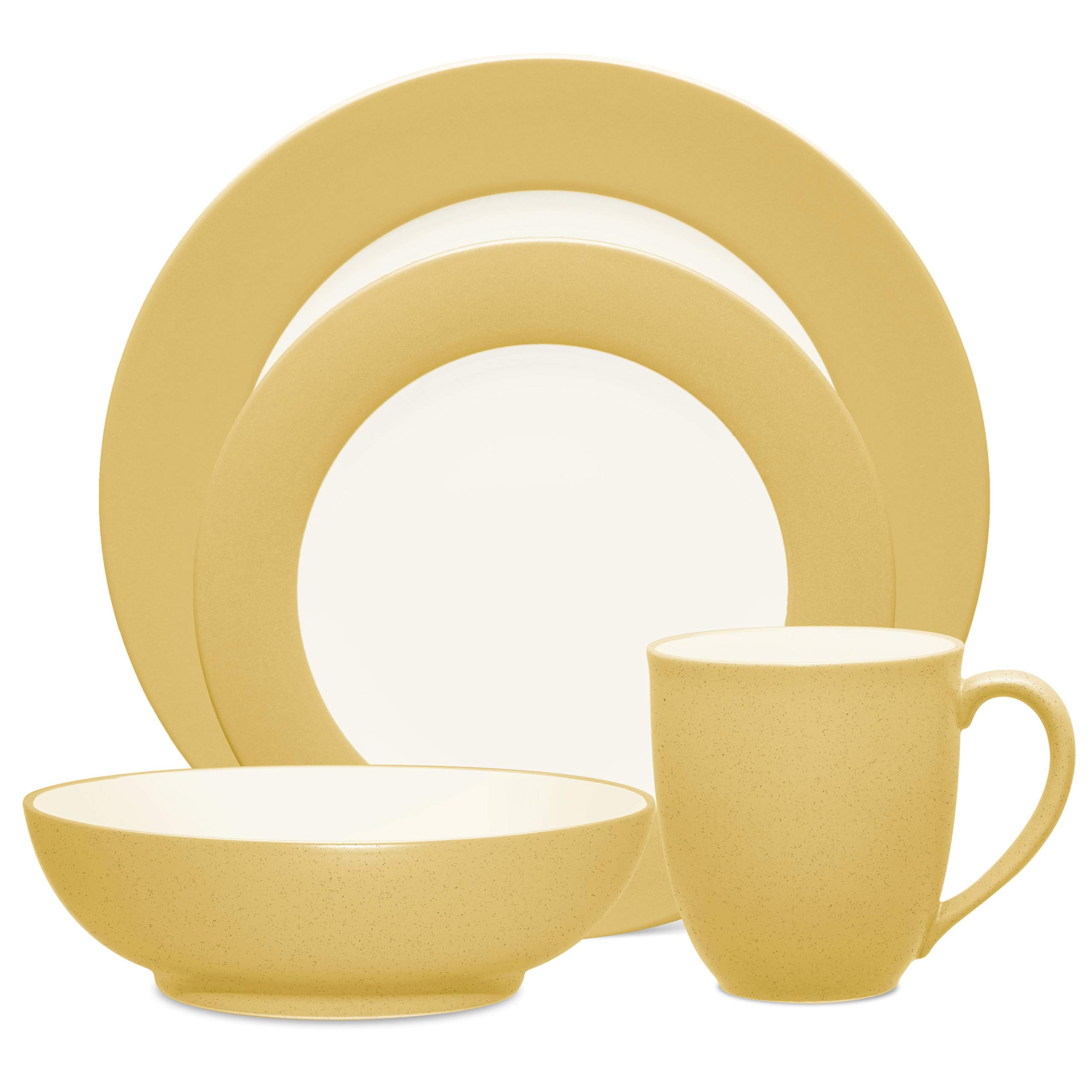Noritake 4-Piece Colorwave Place Setting, Mustard