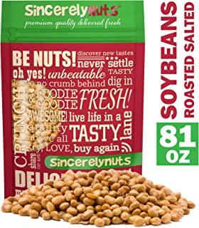 Sincerely Nuts Roasted Soybeans Lightly Salted (5 LB) - Healthy Fat - Vegan & Kosher - Easy Snack -Gluten-Free