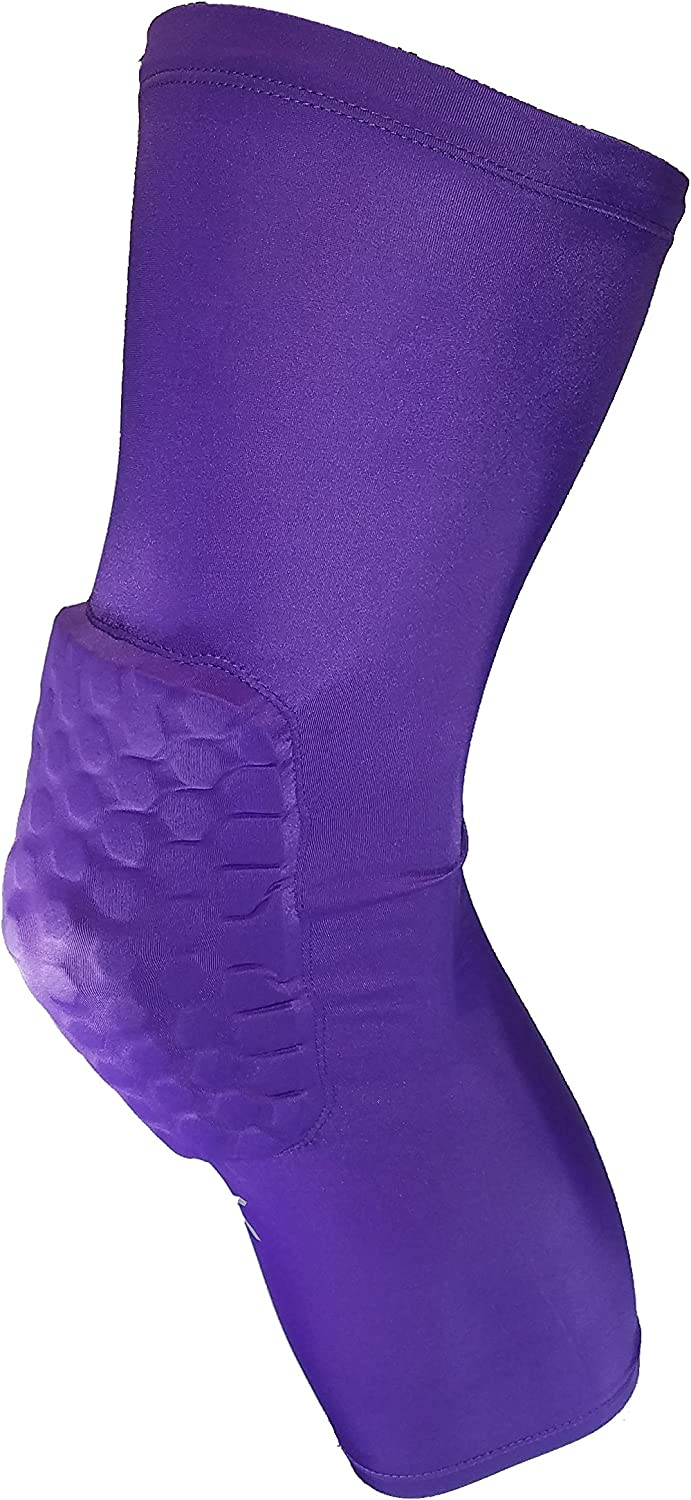 Volleyball Cheerleading Football Obstacle Course Racing Protective Support Guard ELITE COMPRESSION Knee Pad Sleeve Honeycomb Long Leg Sleeve Protector Gear Crashproof Antislip Basketball