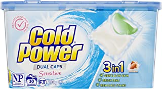 Cold Power Sensitive, Laundry Detergent Capsules, 30 Washes, 600 Grams, 30 Caps (2592007)