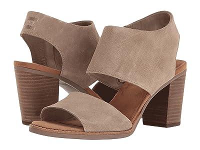 TOMS Majorca Cutout Sandal (Desert Taupe Suede) Women