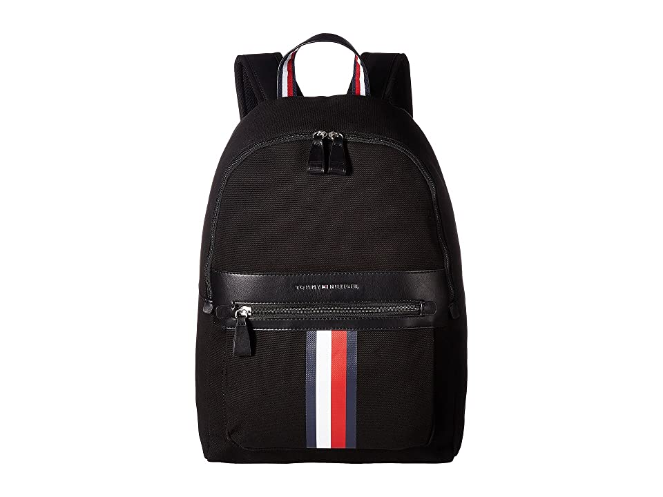 Tommy Hilfiger Icon Backpack Canvas (Black) Backpack Bags