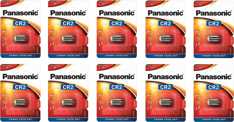 Pila de Litio Panasonic CR2 3V - Blister 1 x10 - Caja 10 Blister