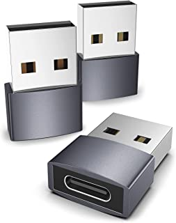 Syntech USB C hona till USB hane adapter paket med 3, typ C till USB A omvandlare kompatibel med iPhone 13/12 Pro Max, iPa...