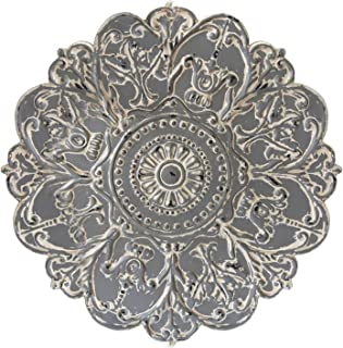 Stratton Home Decor S07730 Medallion Wall Decor, W x 0.75 D x 28.00 H, Grey