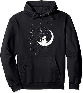 Chats regardant les étoiles motif romantique chat galaxie Sweat à Capuche