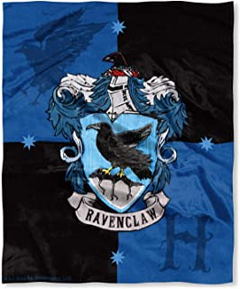 """Harry Potter Ravenclaw House Crest Silk Touch Throw 50"""" x 60""""- Ravenclaw"""