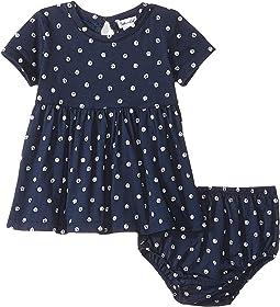 Dot Print Dress Set (Infant)