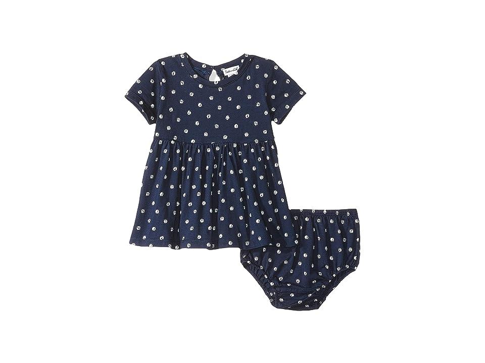 Splendid Littles Dot Print Dress Set (Infant) (Navy) Girl