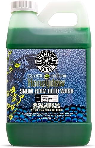 Chemical Guys CWS_110 Honeydew Snow Foam Car Wash Soap and Cleanser (1 Gal) Honeydew 64 fl. Oz (Half Gallon)