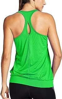 SYROKAN Women's Active Racerback Athletic Sports T-Shirt Long Yoga Crop Tank Top