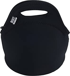 BUILT LB10-BLK Gourmet Getaway Mini Soft Neoprene Lunch Tote Bag-Lightweight, Insulated and Reusable, Snack, Black