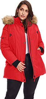 Size Womens Vegan Down Parka Winter Jacket Plus