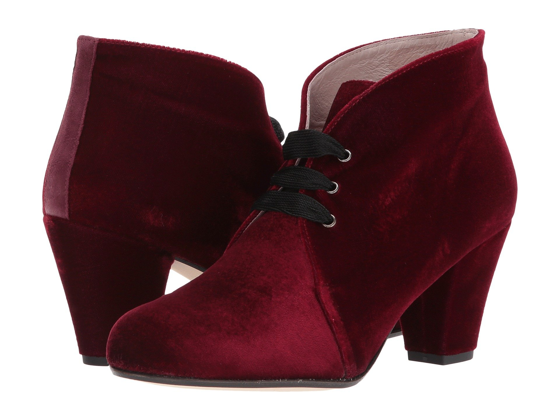 PATRICIA GREEN Clair Lace-Up Bootie in Burgundy