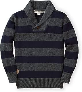 Hope & Henry Boys Shawl Jersey Stitch Sweater Made Organic Cotton