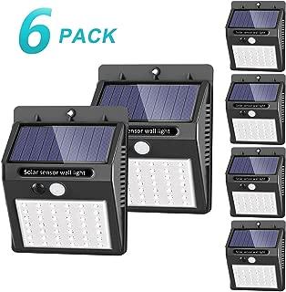 Solar Lights Outdoor , SEZAC Solar Security Lights Solar Motion Sensor Lights Wireless IP 65 Waterproof Outdoor Lights for Garden Fence Patio Garage