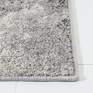 """Safavieh Adirondack Collection ADR134H Modern Abstract Accent Rug, 2'6"""" x 4', Grey / Yellow"""