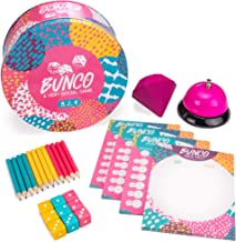 Bunco: A Very Social Game   12-Player Party Dice Game   Includes Dice, Scorecards, Pencils, Bell, & Squishy Traveling Jewel