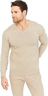stilvoller und l/ässiger Stil f/ür M/änner Klassischer Pullover mit offenen Kn/öpfen und Strickkn/öpfen aus 95/% Baumwolle 5/% Kaschmir weicher Jack Stuart