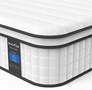 Queen Mattress, Inofia Responsive Memory Foam Mattress, Hybrid Innerspring Mattress in a Box, Sleep Cooler with More Pressure Relief & Support, CertiPUR-US Certified, 10 Inch, Double Size