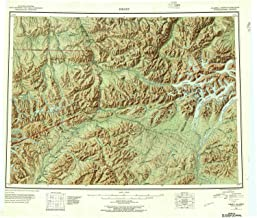 YellowMaps Healy AK topo map, 1:250000 Scale, 1 X 3 Degree, Historical, 1951, Updated 1957, 22.8 x 26.9 in