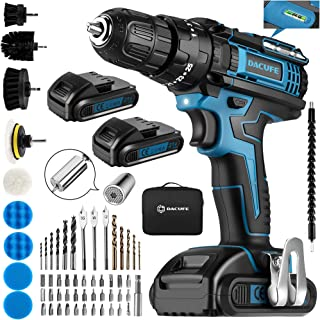 Sponsored Ad – Dacufe Cordless Drill Driver 21V with 2 Batteries 2000mAh, 3-Function Electric Combi Drill and Screwdriver ...