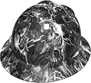 Izzo Graphics Warrior White MSA V-Guard Full Brim Hard Hat