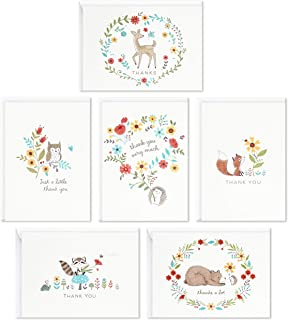 Hallmark Baby Shower Thank You Cards Assortment, Woodland Animals (48 Cards with Envelopes for Baby Boy or Baby Girl) Dee...