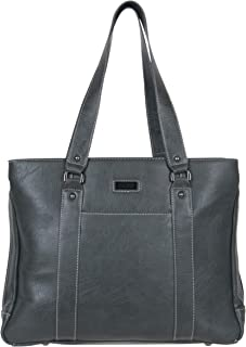 Hit A Triple Women's Pebbled Faux Leather Triple Compartment 15