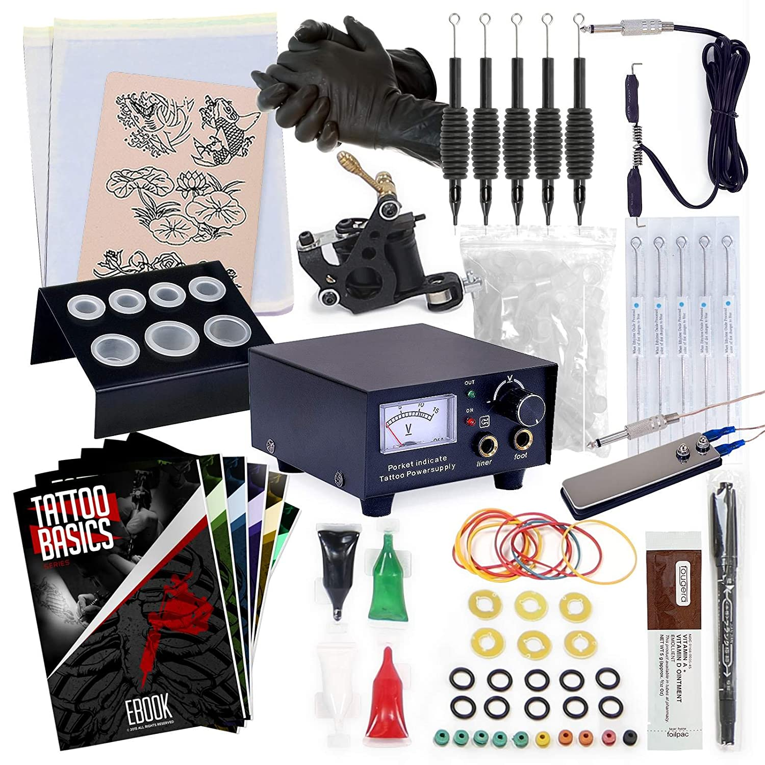 Rehab Ink Complete Tattoo Kit Power w Max Limited price sale 67% OFF Supply Needles Machine