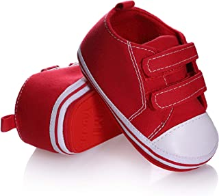 Unisex Baby Sneakers Toddler Boys Girls Anti-Slip First Walkers Canvas Shoes 0-24 Months