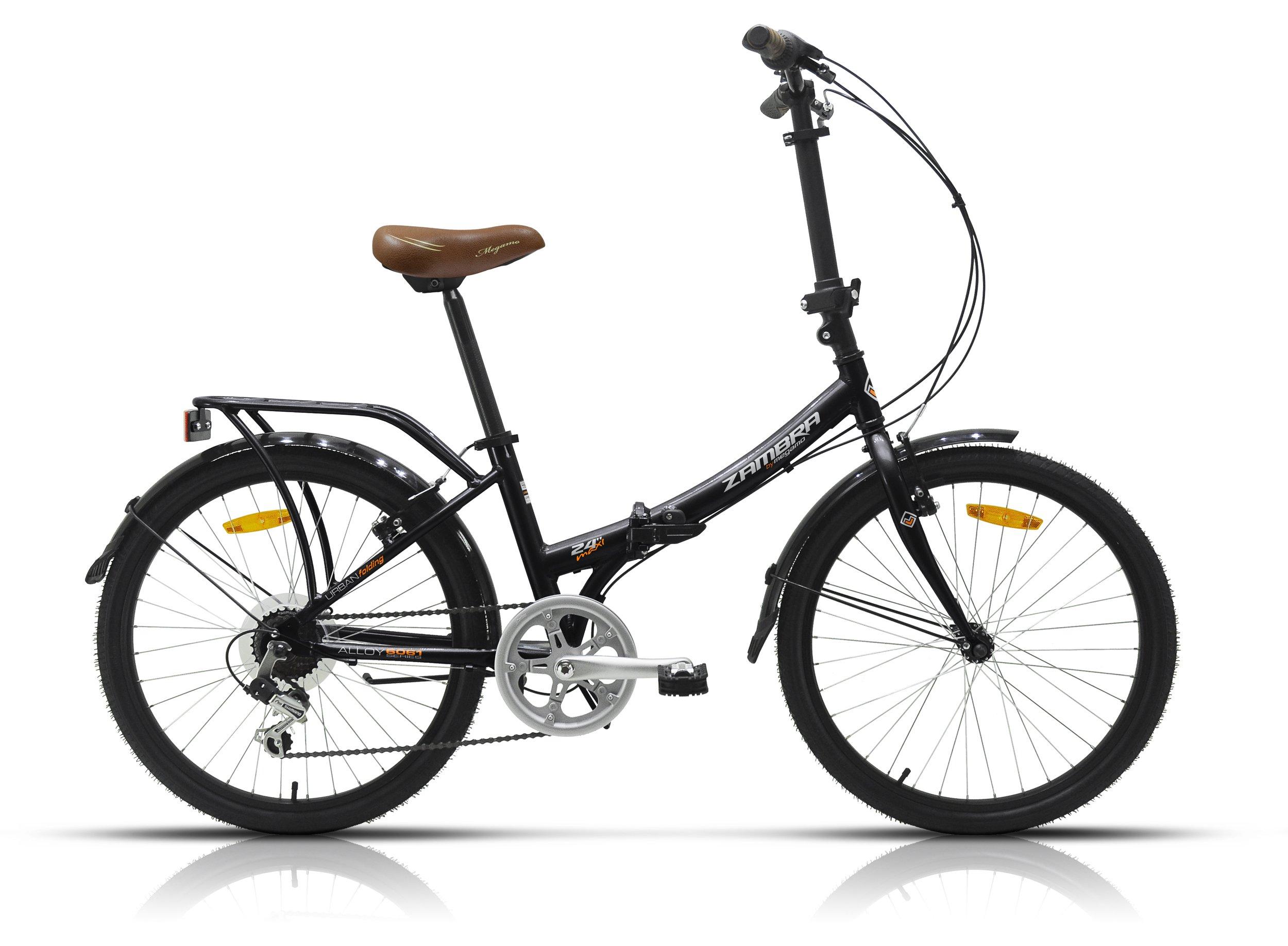 Megamo Maxi Bicicleta Plegable de Paseo, Unisex Adulto, Negro, M ...