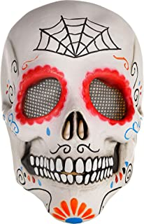 AMSCAN Day of The Dead Sugar Skull Mask Halloween Costume Accessories for Adults, One Size