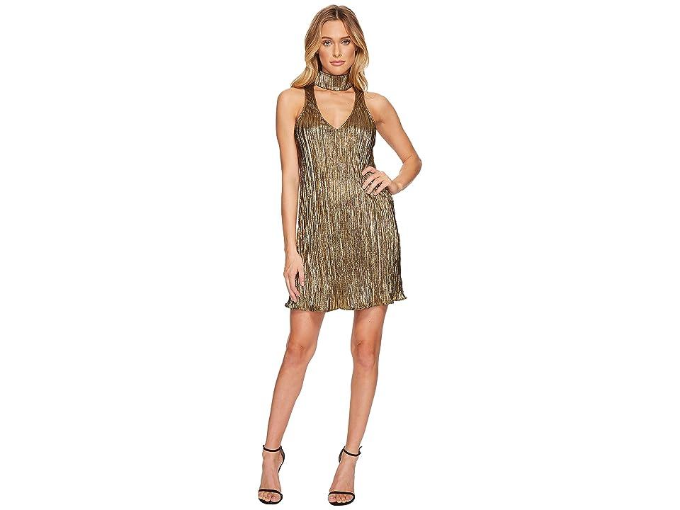 Show Me Your Mumu Friday Choker Dress (Good As Gold Pleat) Women
