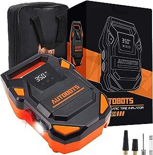 Autobots Portable Air Compressor Pump | 2020 Model 12v Tire Inflator With Digital Pressure Gauge | Perfect For Automobiles, Car & Bike Tires | Includes Hose & Accessories