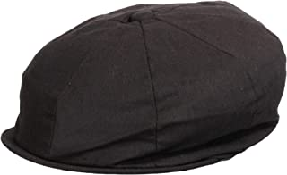 Levine Hats Men's Linen Cotton Blend Newsboy Ivy Hat 8-Panel Cabbie Cap (5 Colors)