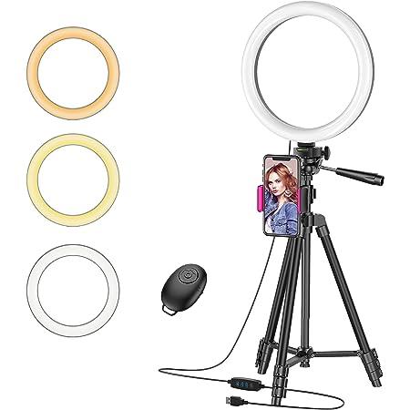 LED Desktop Selfie Ringlicht mit Clip 3 Lichtmodi für Live Stream Makeup
