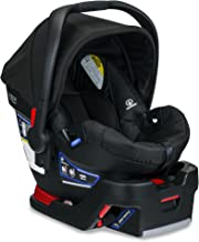 Britax B-Safe 35 Infant Car Seat - 4 to 35 Pounds - Rear Facing - 1 Layer Impact Protection, Raven