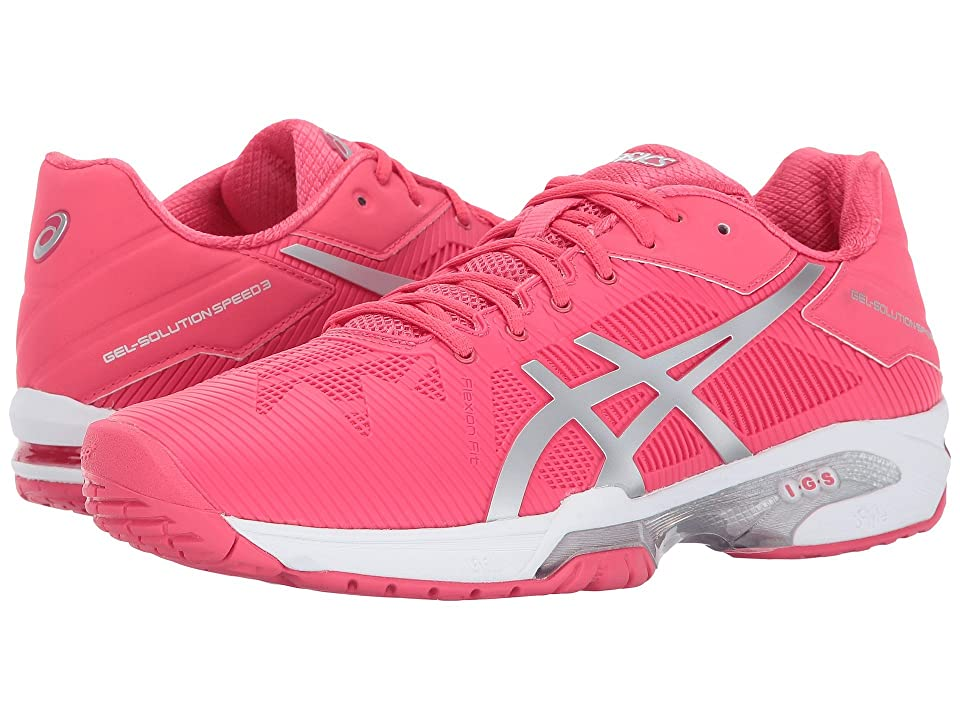 ASICS Gel-Solution(r) Speed 3 (Rogue Red/Silver/White) Women
